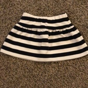 Janie and Jack black and white striped skirt